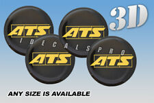 ATS domed wheel center cap decals emblems stickers 4 pcs ~ ANY SIZE ~ y/b