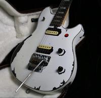 Stock Custom Shop Handmade Relic Electric Guitar White Color Floyd Rose Bridge