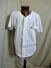 1994 The SIMPSONS ADAM  Baseball Style Button Up Short Sleeve Shirt Size SMALL