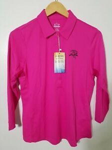 1 NWT EP PRO WOMEN'S POLO, SIZE: MEDIUM, COLOR: PINK (J76)