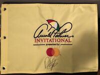 Francesco Molinari signed 2019 Arnold Palmer Inv. Golf Flag masters winner?