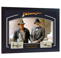 Sean Connery Harrison Ford Indiana Jones signed autograph photo print Framed