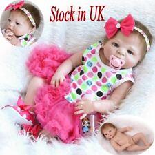 REALISTIC REBORN BABY DOLLS FULL BODY SILICONE VINYL NEWBORN BABY GIRLS TOYS