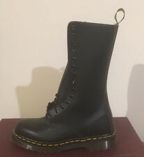 DR. MARTENS 1914 BLACK 14 EYELET MADE IN UK    LEATHER  BOOTS SIZE 12