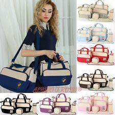 5pcs Baby Nappy Changing Bag set Mummy Shoulder Handbag Diaper Bag  Dark Blue