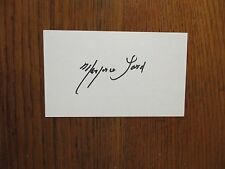 """MARJORIE  LORD(Died-2015) (""""Make  Room  for  Daddy"""")Signed  3 x 5   Index   Card"""