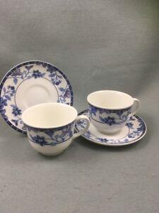 Johnson Brothers Cornflower Cups & Saucers X 2