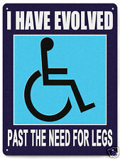 DISABLED metal sign WHEELCHAIR INSPERATIONAL humor funny office home plaque 207