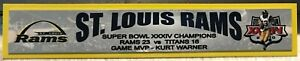 ST. LOUIS RAMS  SUPER BOWL XXXIV  FULL COLOR NAME PLATE