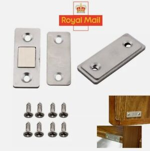 4/8Pcs Strong Magnetic Catch Latch Ultra Thin For Door Cabinet Cupboard Closer