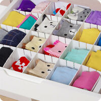 6x Set Plastic Drawer Partitions Dividers Free Combinations Storage Organizer