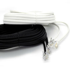 2m Up to 25m Meter RJ11 To RJ11 Cable ADSL Phone Line Broadband Lead Best Price!