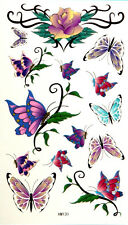 King Horse  Butterflies and Rose Temporary Tattoos #HM131