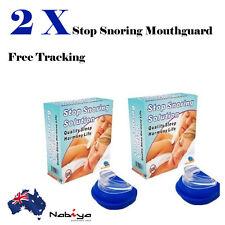 2x HIGH QUALITY STOP SNORING Anti Snore Sleep Apnea Mouth Guard Mouthpiece