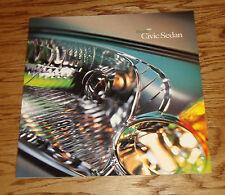 Original 2001 Honda Civic Sedan Deluxe Sales Brochure 01