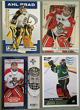 4 Tim Thomas 2006-07 ITG Heroes and Prospects & 2013-14 Cards Prizm, Score, +