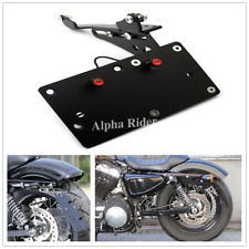 Side Mount License Plate Holder Bracket For Harley Sportster XL883/1200 04-17