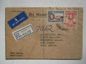 1948 GOLD COAST REGISTERED ACCRA  COVER