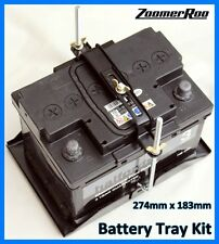 Car Battery Tray & Adjustable Hold Down Kit 274mm x 183mm Universal (H)