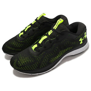 Under Armour Charged Bandit 7 UA Black Green White Men Running Shoes 3024184-002