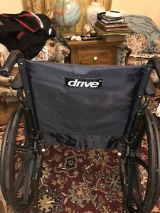 Lightweight Steel Wheelchair 19 Seat Fixed Full Arms Drive Medical