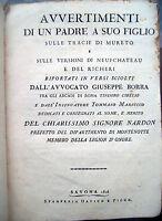 1806 SAVONA DIPARTIMENTO DI MONTENOTTE OPERA DEDICATA HUGUES NARDON NAPOLEONICA