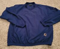 EUC FootJoy FJ Men's Navy Blue Golf Pullover Medium