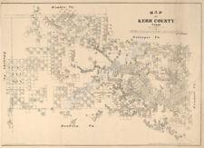 Map of Kerr County TX c1879 repro 27x20