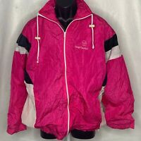 Vintage Sergio Tacchini Windbreaker Jacket L Pink Waterproof Pockets