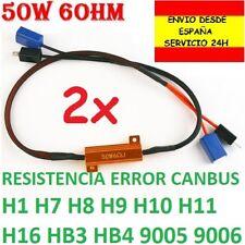 PACK 2X RESISTENCIA LED ERROR CANBUS H1 H7 H8 H9 H10 H11 H16 HB3 HB4 9005 9006