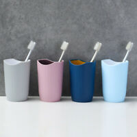 KM_ Bicolor Cup Toothbrush Holder Washing Drinking Travel Bathroom Tooth Mug L
