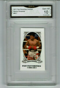 2011 Manny Pacquiao Fan Favorites Mini Boxing Rookie Gem Mint 10