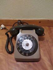 ANCIEN TELEPHONE S 63 A CADRAN Marron vintage deco SOCOTEL S63