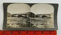 Vintage Keystone View Stereoscope WW1 American Plane Western Front France