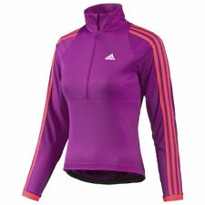 adidas Long Sleeve Cycling Jerseys with Half Zipper