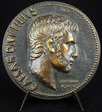 Médaille César Caesar Arles Médaille 1954 Empereur Auguste 74 mm 216 g medal