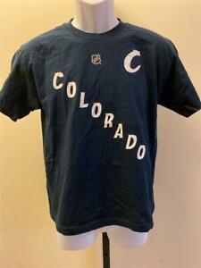New Colorado Avalanche #92 Gabriel Landeskog Kids Size L Large Blue Shirt