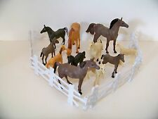 Farm Animals Horses, Colts Play Ranch Cake Toppers Educational 15 pc -Repackaged