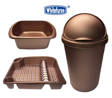 ROSE GOLD WHITEFURZE KITCHEN BULLET WASTE TRASH WASTE BIN / DISH DRAINER / BOWL