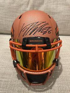 Von Miller Authentic Signed hydro Dip Helmet Custom Visor JSA Auth Broncos