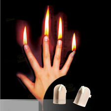 Pack of 4 Finger Fire Magic Stage Magic Tricks Magician Gimmick Fire Magic