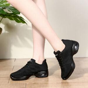 Women's Modern sport Hip Hop Dance Sneakers Jazz Shoes Salsa Black White Girls