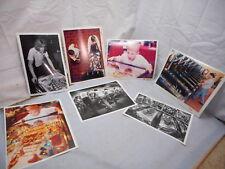 "7 Vintage Pinball Press Photos, 1970's -1990's, B&W & Color, Michigan, 8 by 10"""