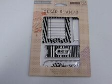 HERO ARTS BASICGREY MERRY CL632 POLY CLEAR RUBBER STAMPS NEW A1073