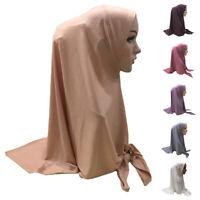 One Piece Amira Hijab Women Muslim Scarf Shawl Head Wrap Islamic Turban Prayer