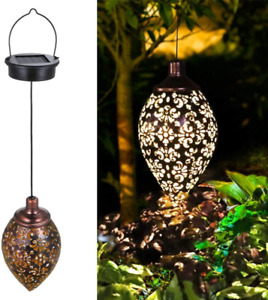 Solar Light Outdoor Garden Hanging Lamps for Patio Yard Table Pathway