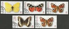 STAMPS-EUROPE-GERMANY. 2005. Butterflies & Moths Set. SG: 3387/91. Fine Used.