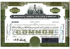 Rockwell Spring and Axle Company PA 1956 Stock Certificate
