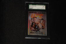 RANDY COUTURE 2010 TOPPS UFC SIGNED AUTOGRAPHED CARD #105 SGC SLABBED