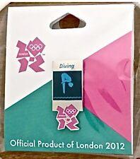 London 2012 Olympic Lapel Pin Badge ~ Pictogram ~ Diving ~ Gamesmark Logo